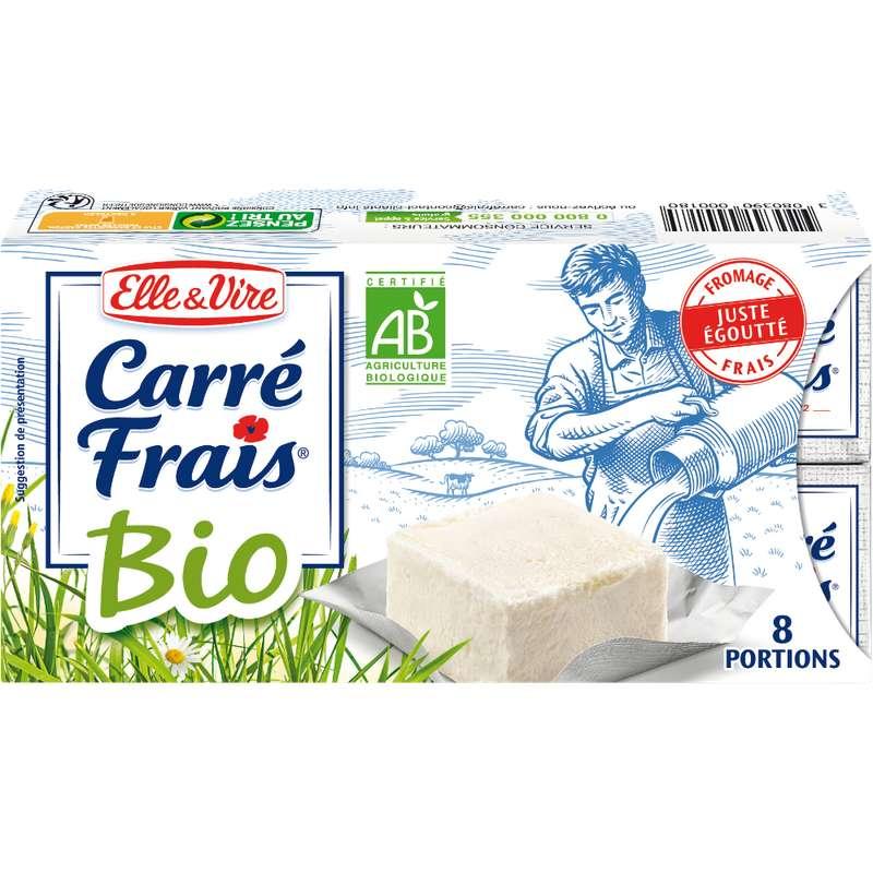 Fromage frais BIO, Carré Frais (8 x 25 g)