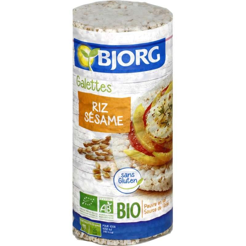 Galette de riz complet au sésame BIO, Bjorg (130 g)