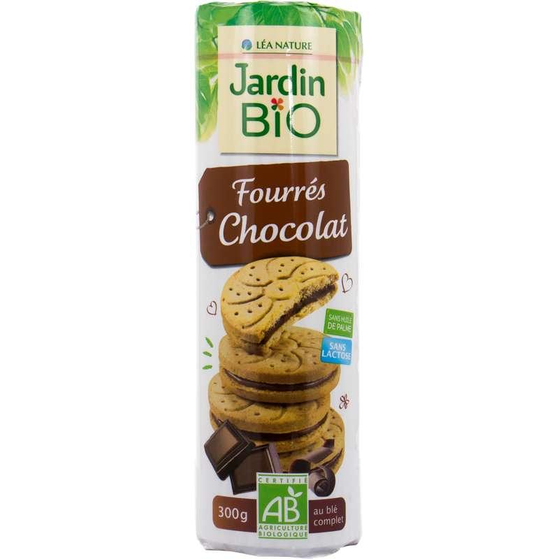 Gâteaux fourrés au chocolat et au blé complet BIO, Jardin bio (300 g)