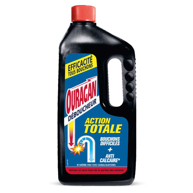 Gel déboucheur WC Action totale, Ouragan (1 L)