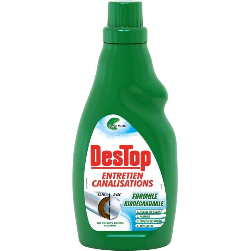 Gel entretien canalisations organique, Destop (750 ml)