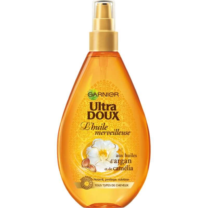 Huile Merveilleuse à l'huile d'argan et de camélia cheveux secs, Ultra Doux (150 ml)
