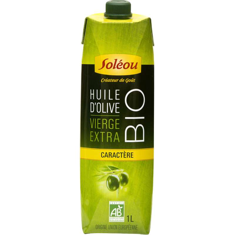 Huile olive extra vierge Caractère BIO, Soleou (1 L)