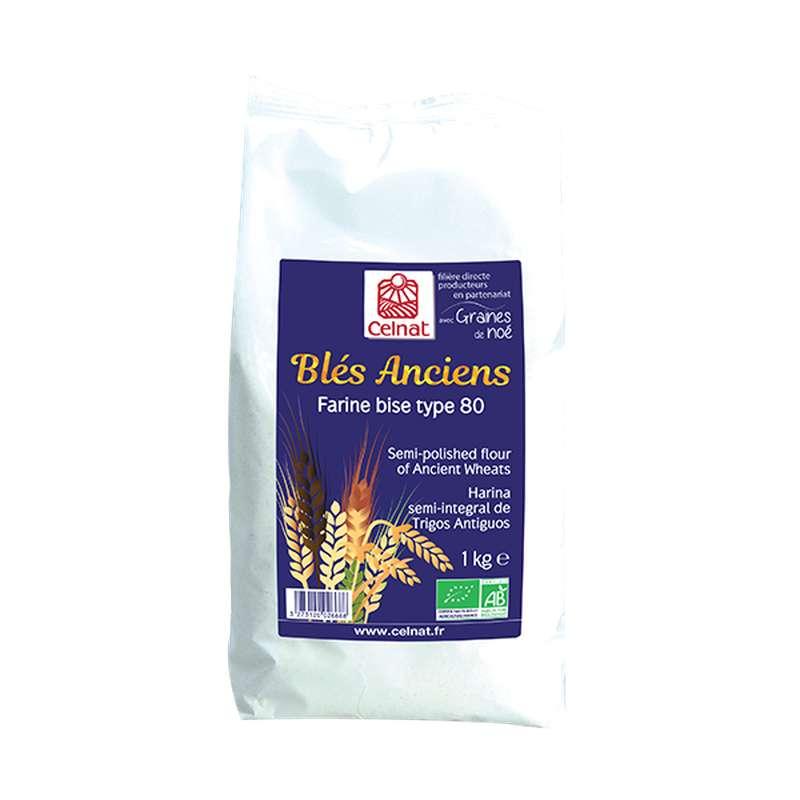 Farine de blé bise T80 BIO, Celnat (1 kg)