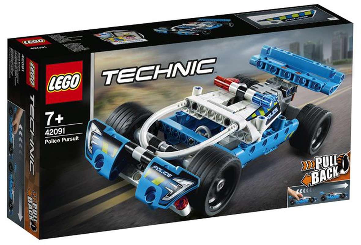 La voiture de police, Lego