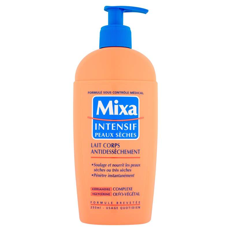 Lait corps antidessèchement, Mixa (250 ml)