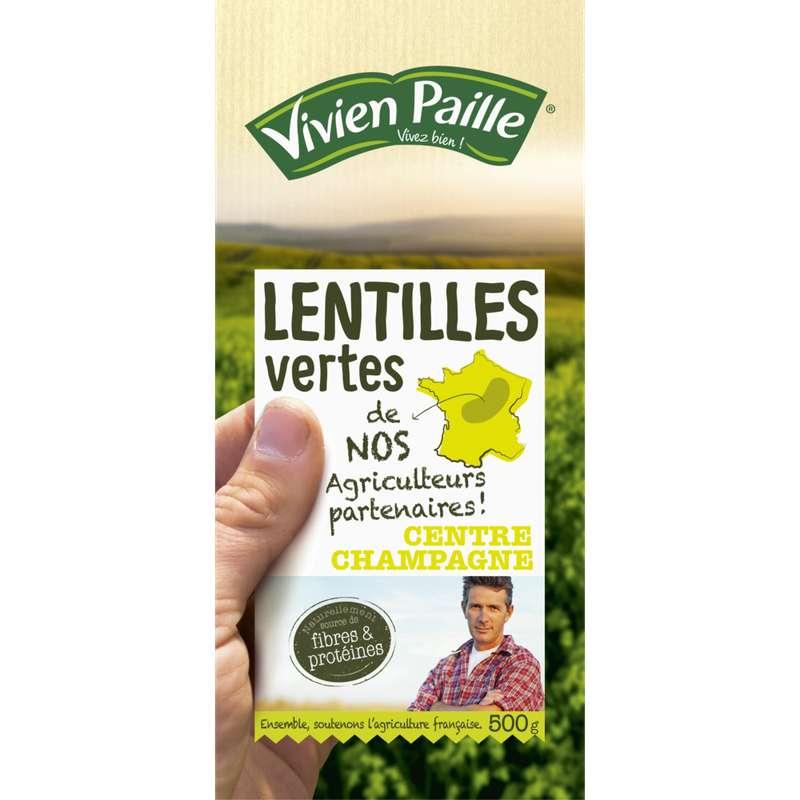 Lentilles vertes de nos agriculteurs partenaires, Vivien Paille (500 g)