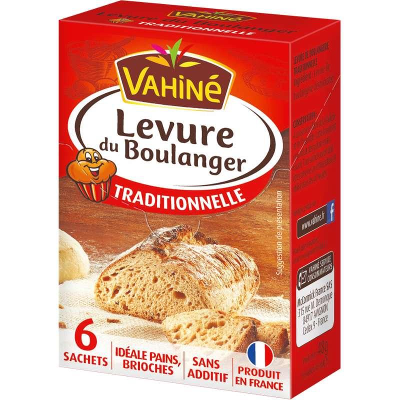 Levure de boulangerie traditionnelle, Vahiné (x 6, 48 g)