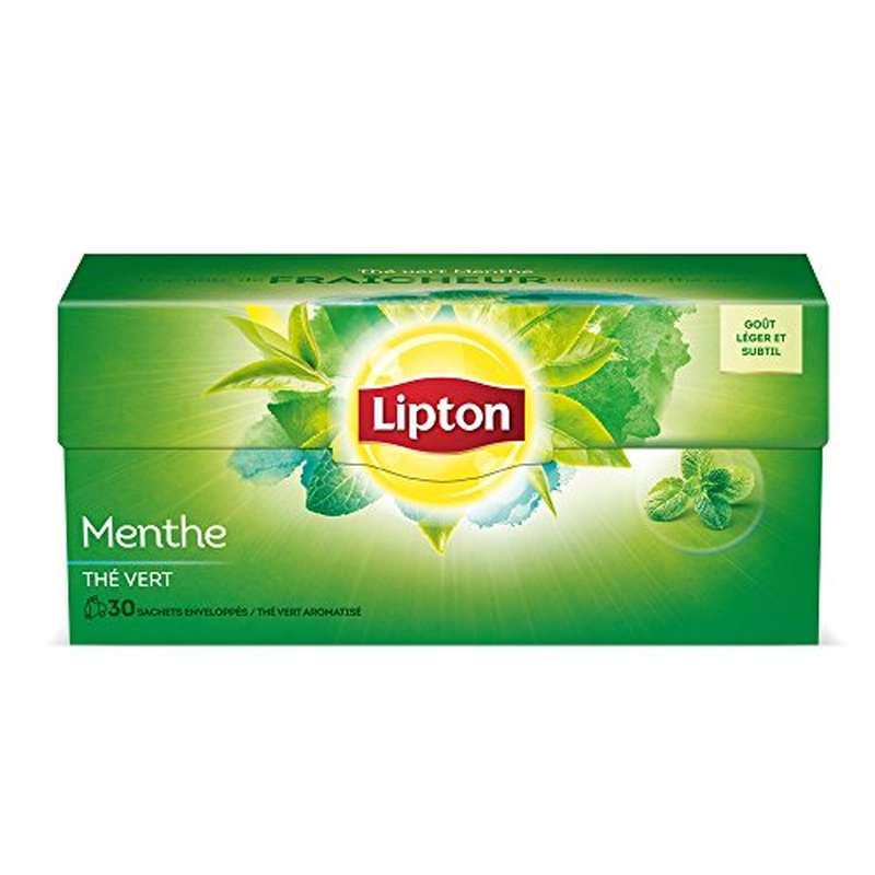 Thé vert menthe, Lipton (30 sachets)