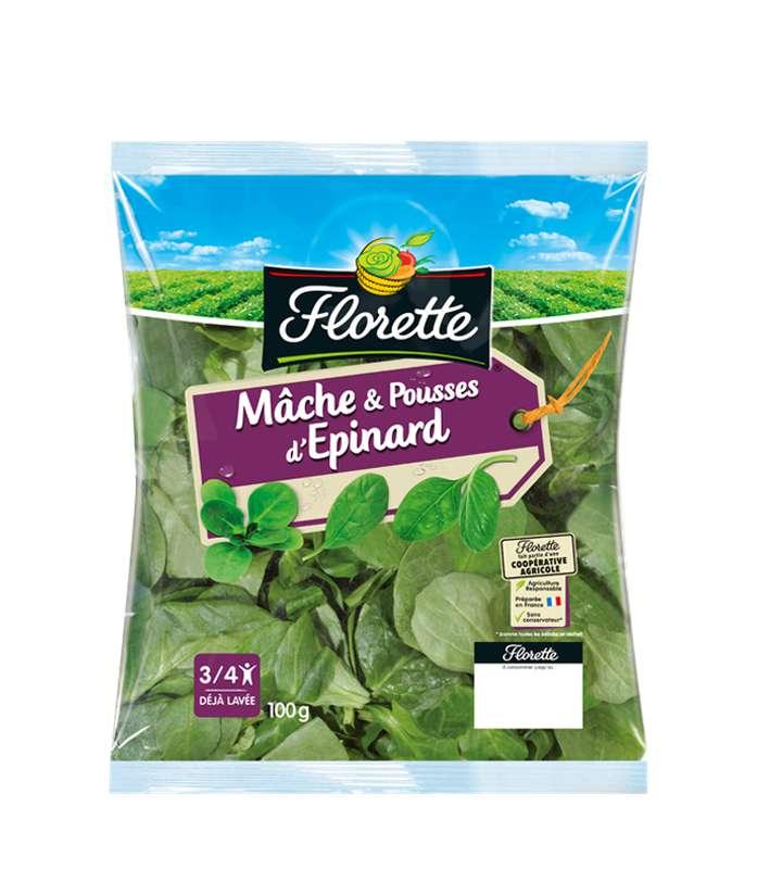 Mâche et pousses d'épinard, Florette (100 g)