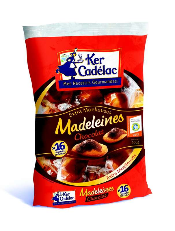 Madeleines marbrées au chocolat, Ker Cadélac (x 16, 400 g)