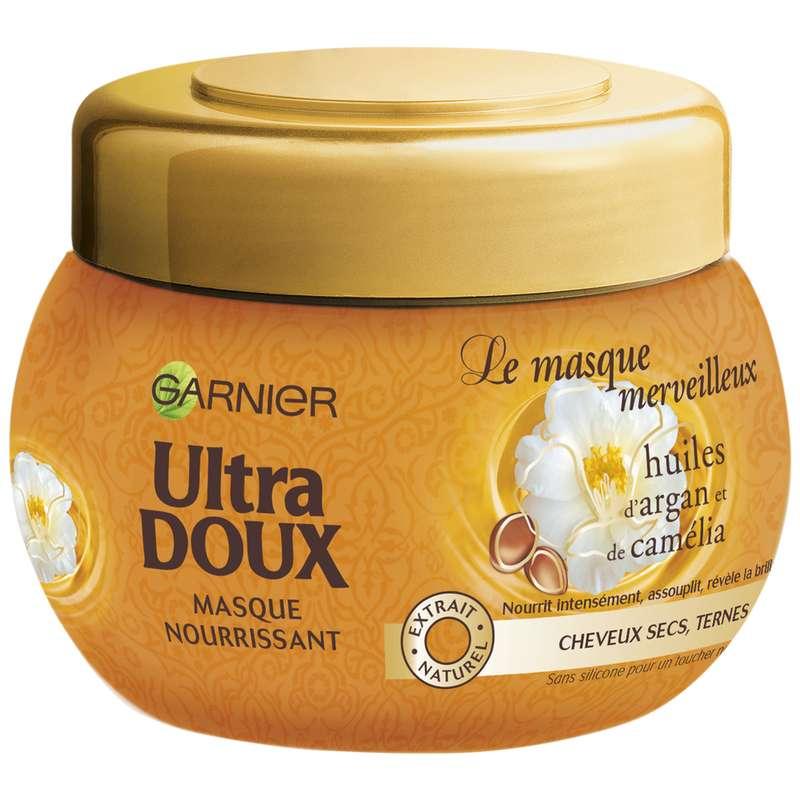 Masque Merveilleux à l'huile d'argan et de camélia cheveux secs, Ultra Doux (300 ml)