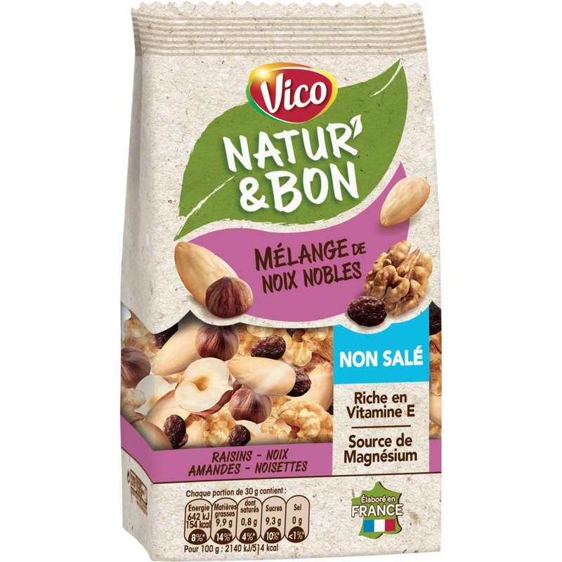 Natur' & Bon mélange de noix nobles non salées, Vico (200 g)