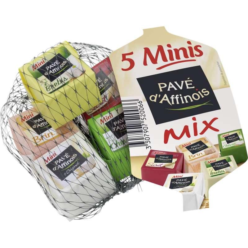 Minis fromages Mix Vache-chèvre-brebis, Pavé D'Affinois (5 x 26 g)