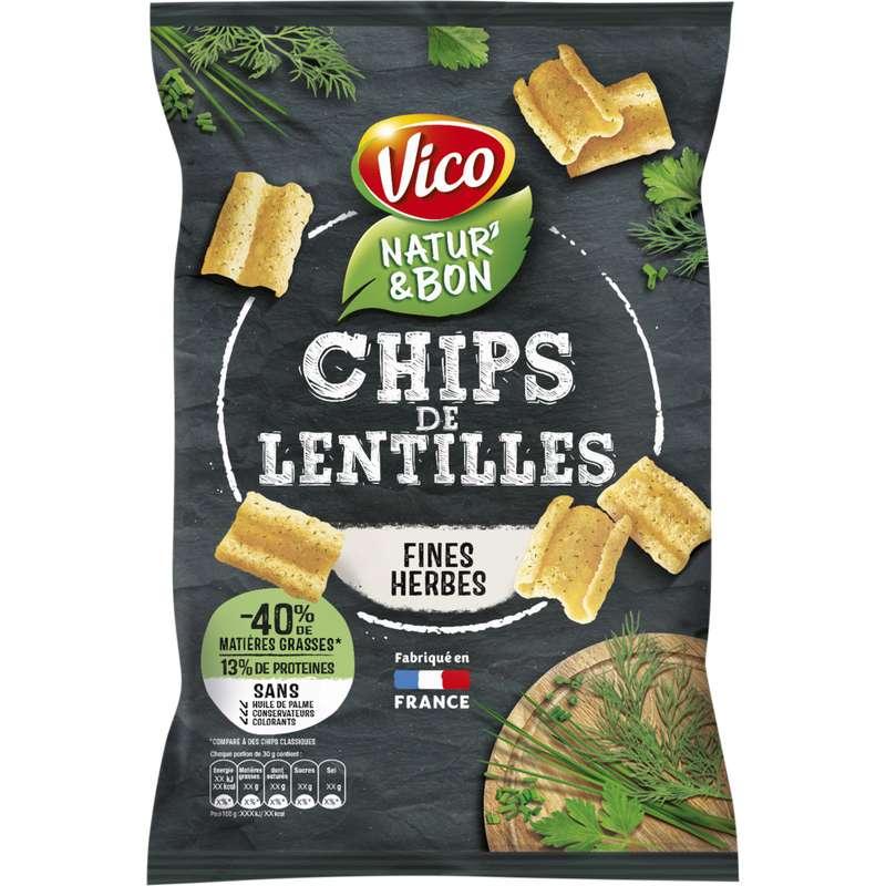 Natur' & Bon Chips de lentilles et fines herbes, Vico (85 g)