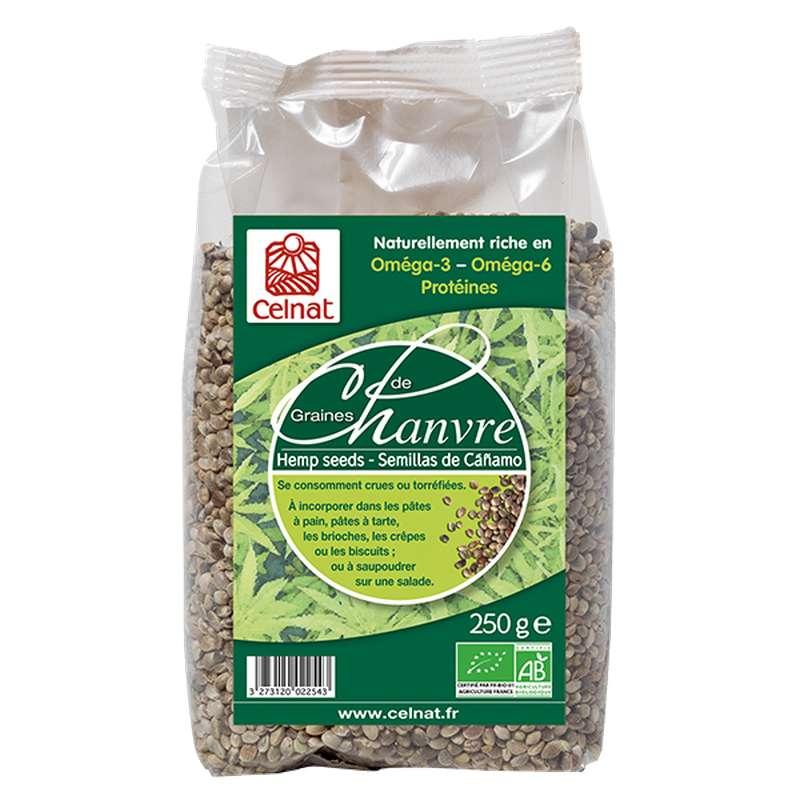 Graines de chanvre complètes BIO, Celnat (250 g)