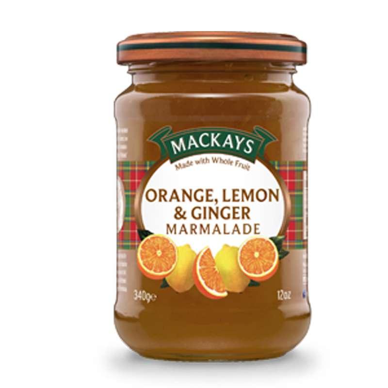 Marmelade orange & citron au gingembre, Mackays (340 g)