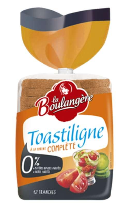 Pain de mie à la farine complète Toastiligne, La Boulangère (500 g)