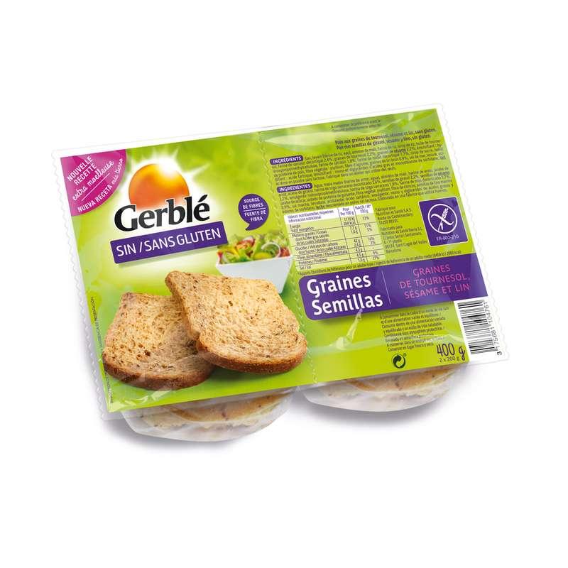 Pain aux graines sans gluten, Gerblé (400 g)