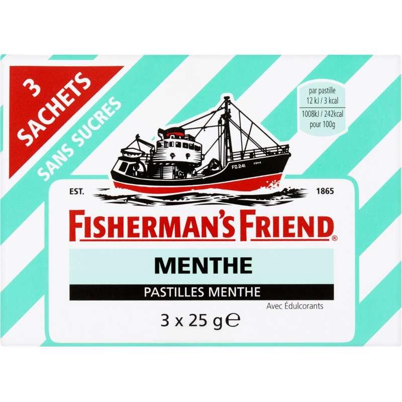 Pastilles menthe sans sucre, Fisherman's Friend (3 x 25 g)