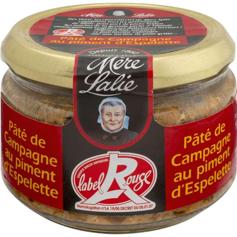 Pâté de campagne au piment d'Espelette, Mère Lalie (180 g)