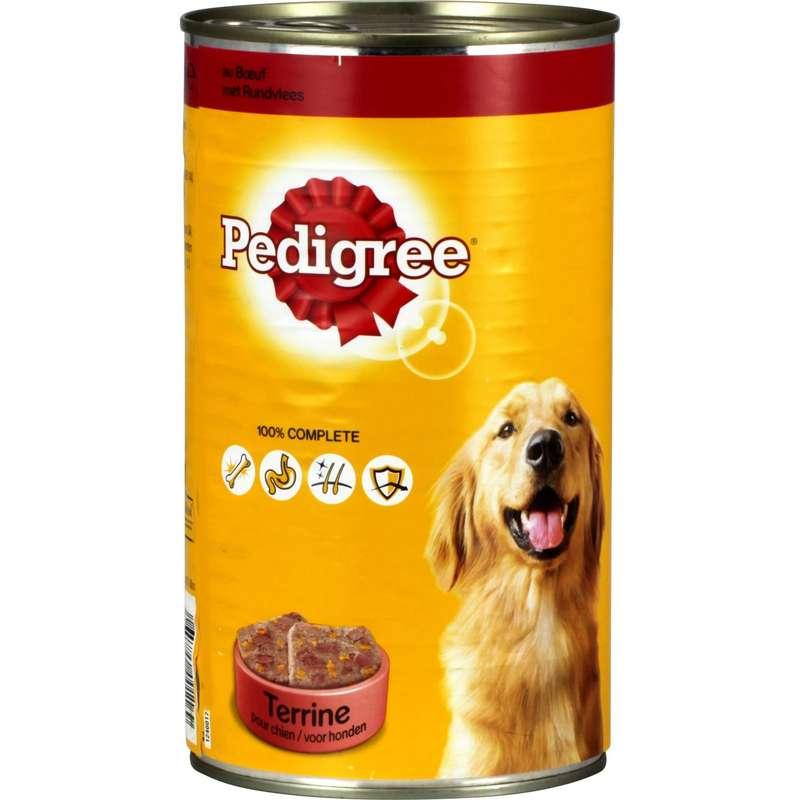 Pâtée pour chiens terrine au bœuf, Pedigree (1,2 kg)