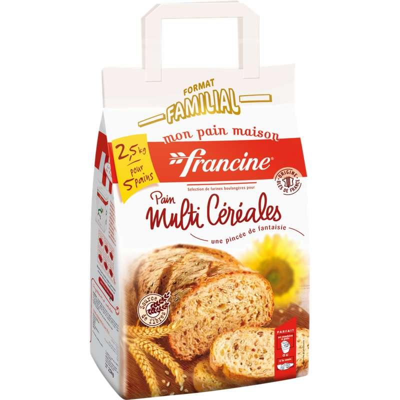 Préparation pour pain multi-céréales, Francine (2,5 kg)