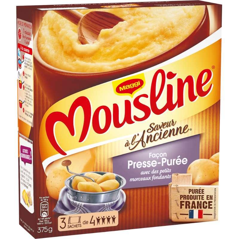 Purée façon presse-purée Mousline, Maggi (x 3 sachets, 375 g)