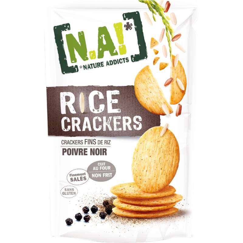 Rice crackers poivre noir, N.A (70 g)