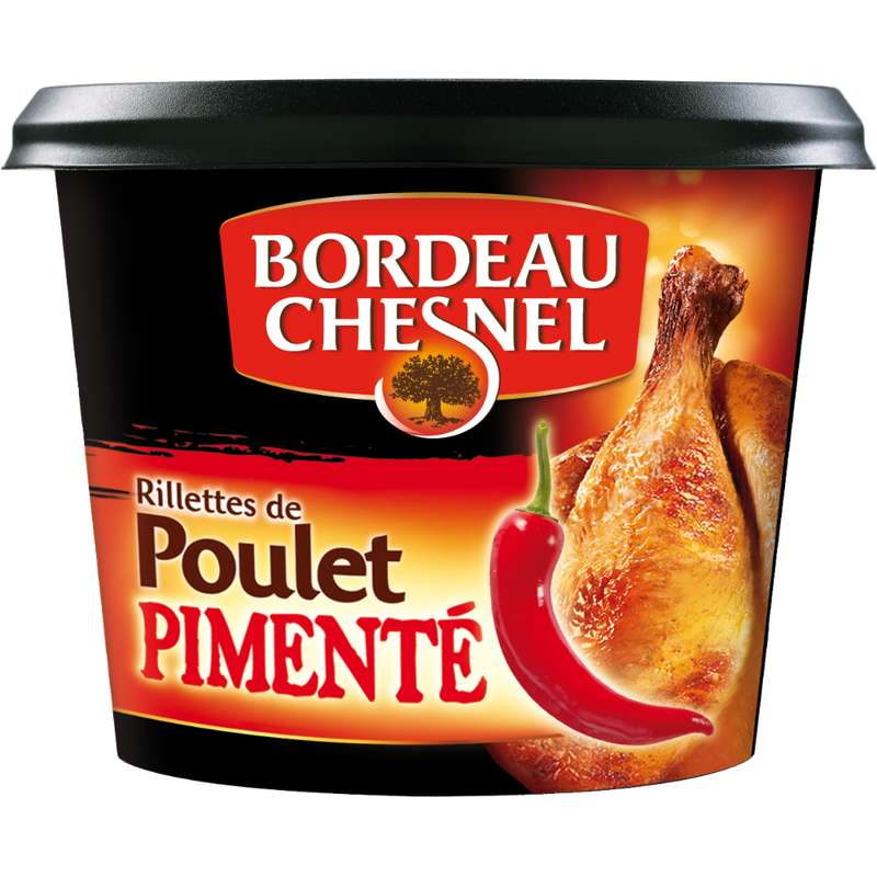 Rillettes de poulet pimenté, Bordeau Chesnel (200 g)