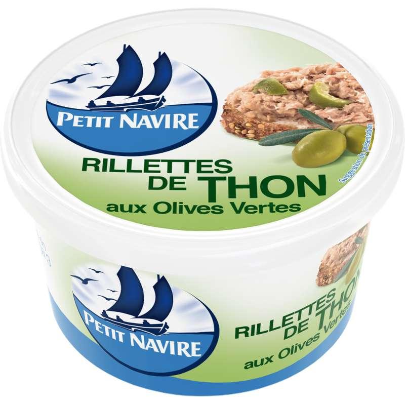 Rillettes de thon aux olives vertes, Petit Navire (125 g)