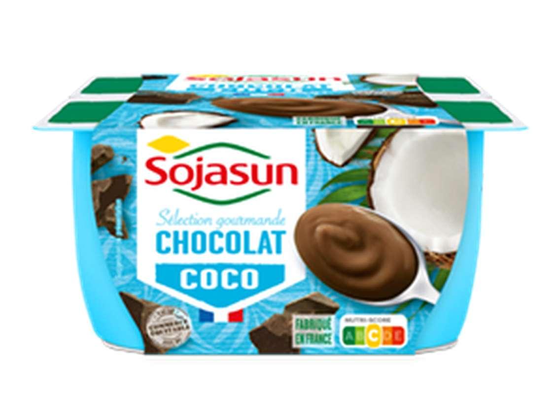 Dessert végétal au lait de coco saveur Chocolat, Sojasun (4 x 100 g)