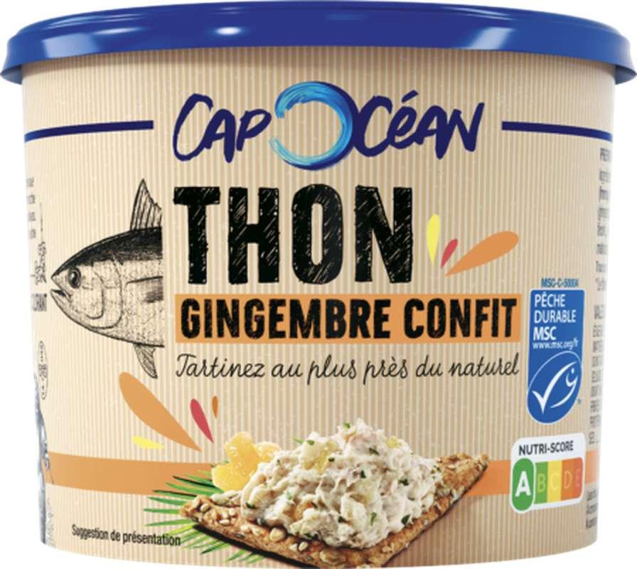 Tartinable de thon au gingembre confit, Cap Océan (140 g)