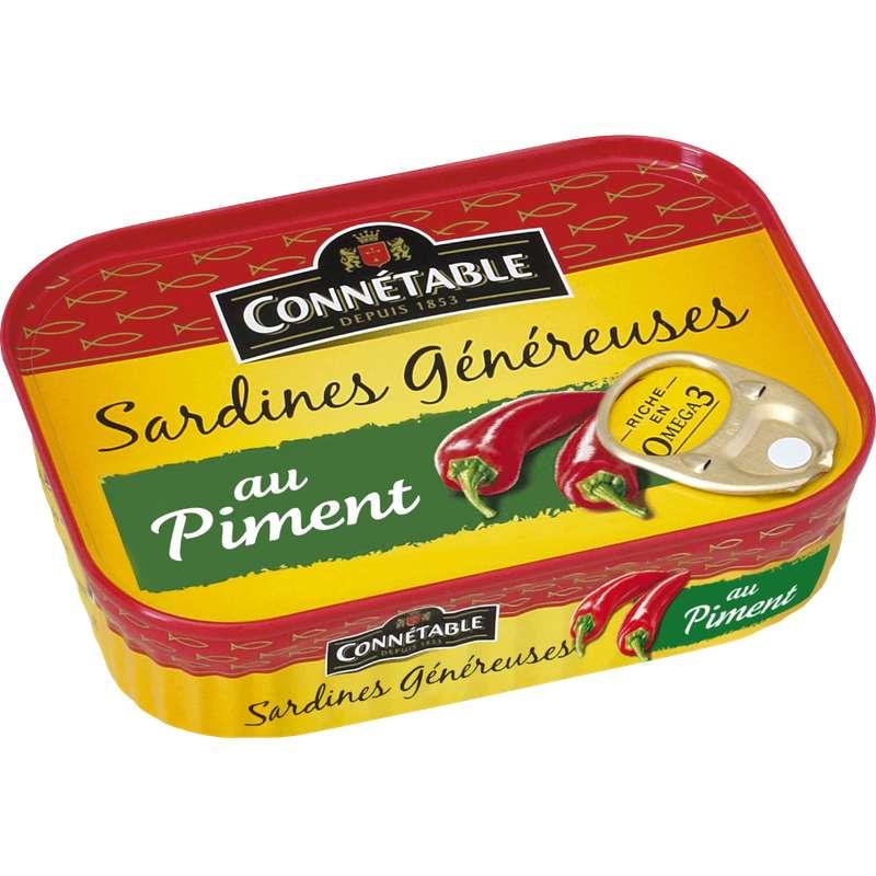 Sardines Généreuses au piment, Connetable (140 g)
