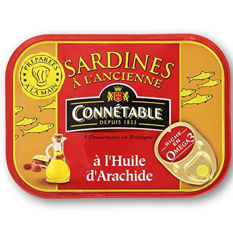 Sardines à l'Ancienne à l'Huile d'Arachide, Connetable (115 g)