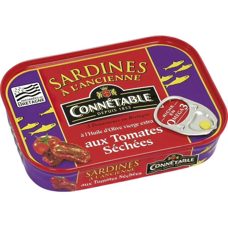Sardines à l'huile d'olive et aux tomates séchées, Connetable (115 g)