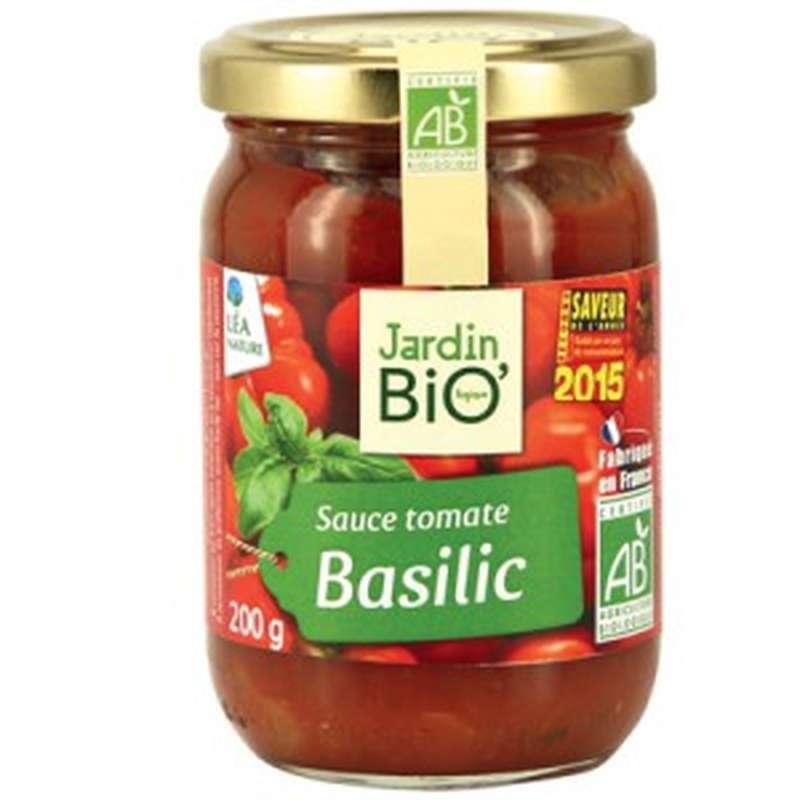 Sauce tomate basilic BIO, Jardin Bio (200 g)