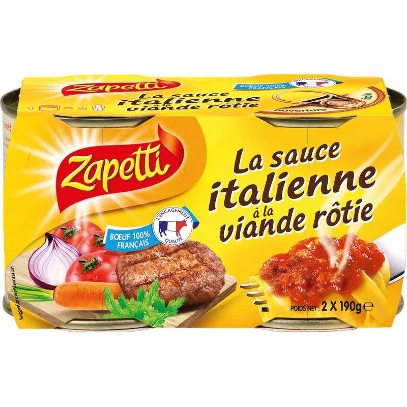 Sauce Italienne à la viande rôtie, Zapetti (2 x 190 g)