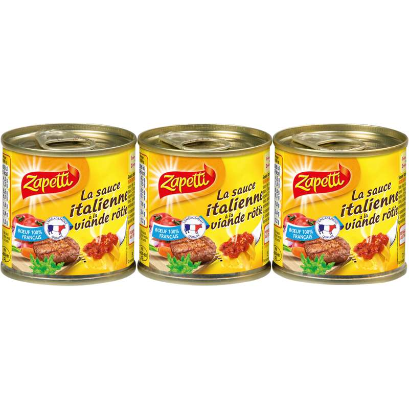 Sauce Italienne à la viande rôtie, Zapetti (3 x 95 g)