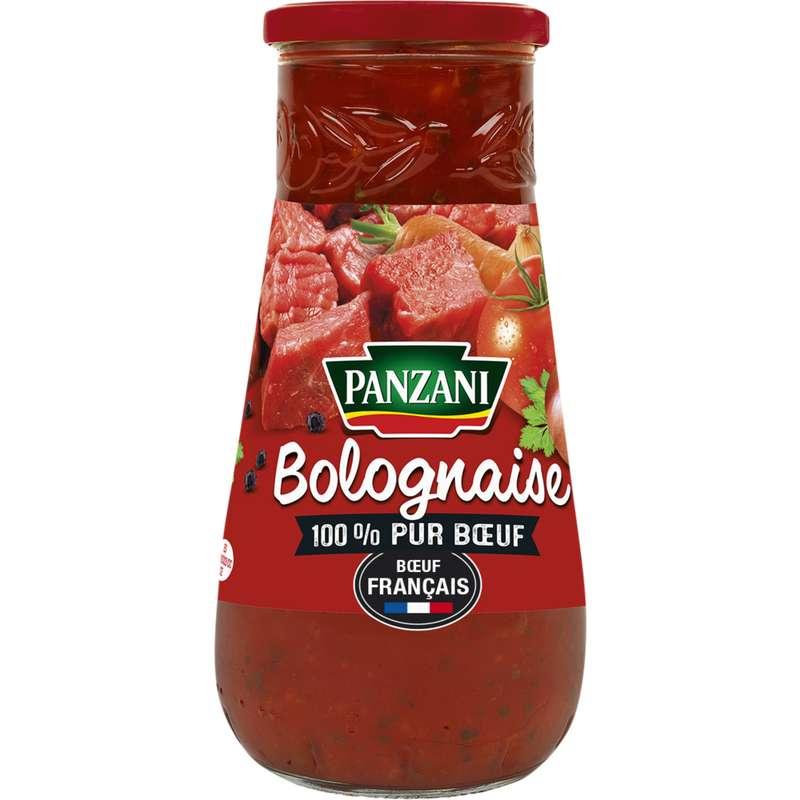 Sauce bolognaise 100% pur boeuf Français, Panzani (650 g)