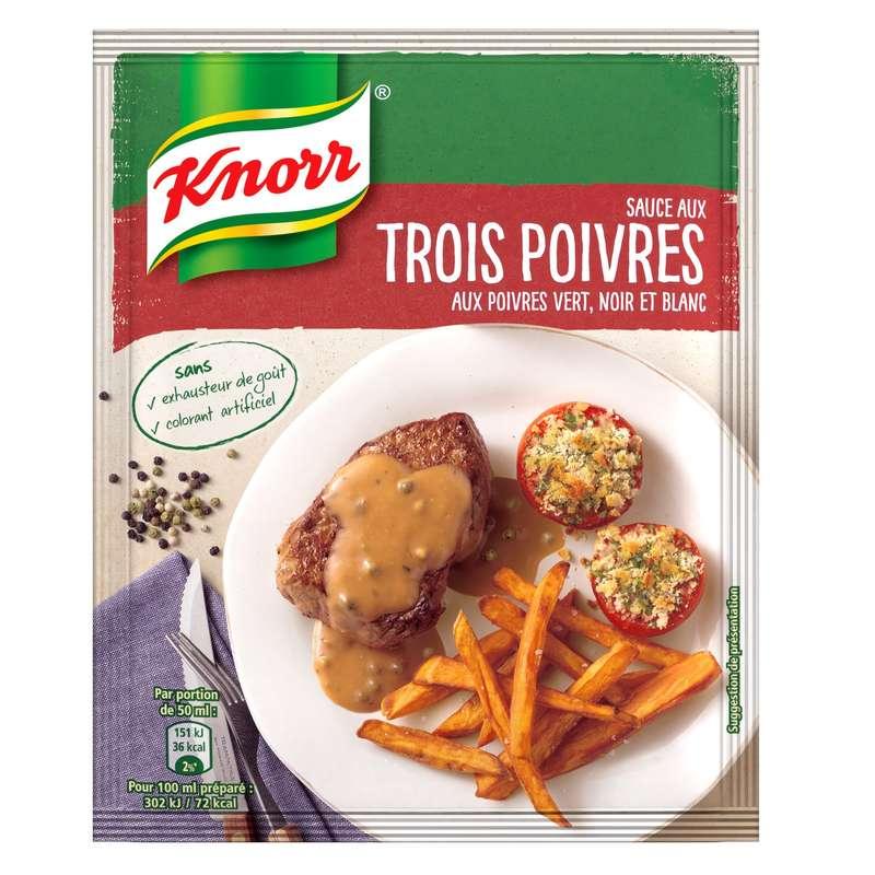 Sauce déshydratée 3 poivres, Knorr (32 g)