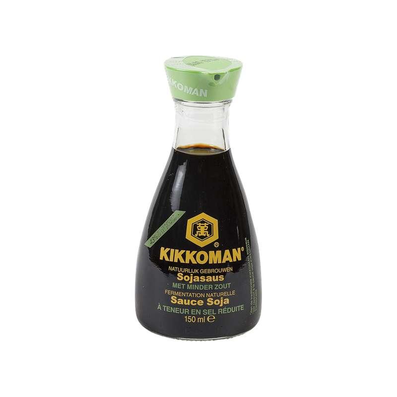 Sauce soja à teneur réduite en sel, Kikkoman (15 cl)