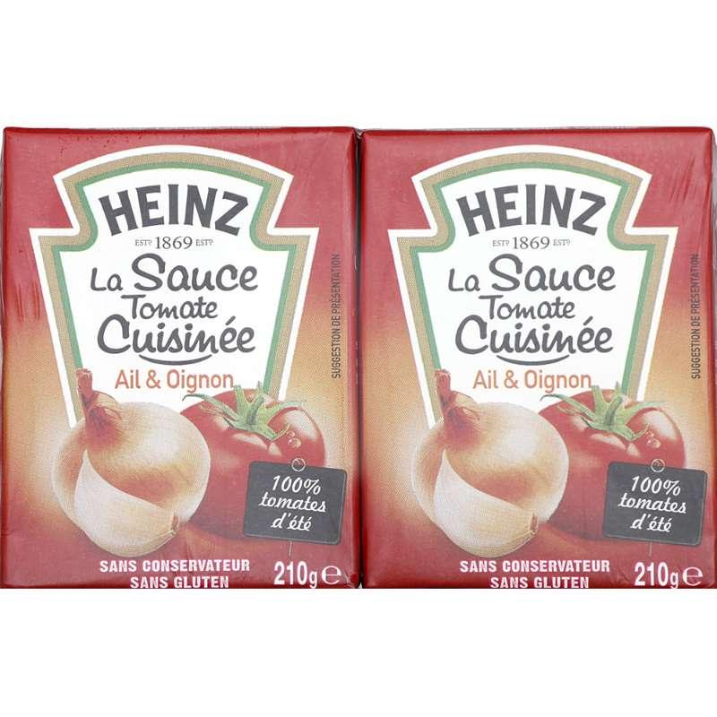 Sauce tomate cuisinée à l'ail et aux oignons, Heinz (2 x 210 g)