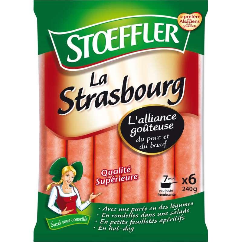 Saucisses de Strasbourg, Stoeffler (x 6, 240 g)