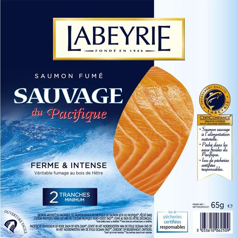 Saumon fumé sauvage, Labeyrie (2 tranches, 65 g)