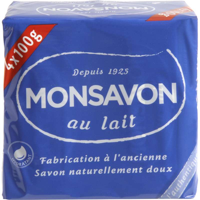 Savon L'Authentique, Monsavon (4x 100 g)