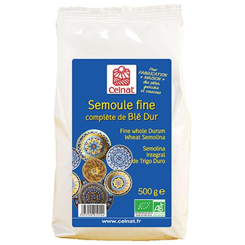 Semoule fine complète de blé dur BIO, Celnat (500 g)