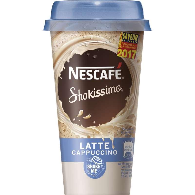 Shakissimo saveur latte cappuccino, Nescafé (190 ml)