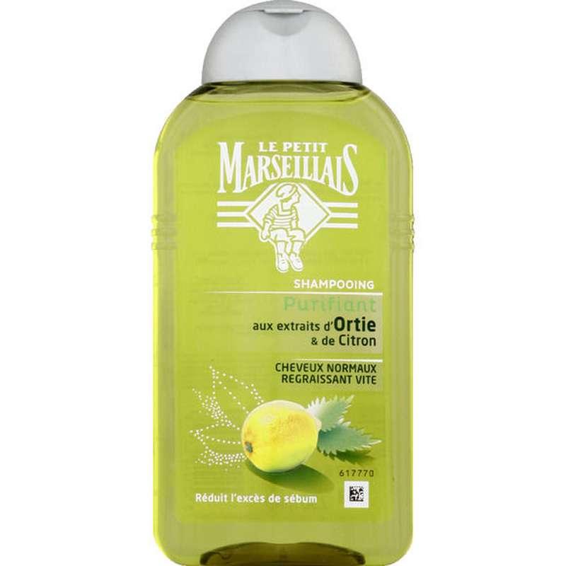 Shampoing aux extraits d'ortie & citron, Le Petit Marseillais (250 ml)