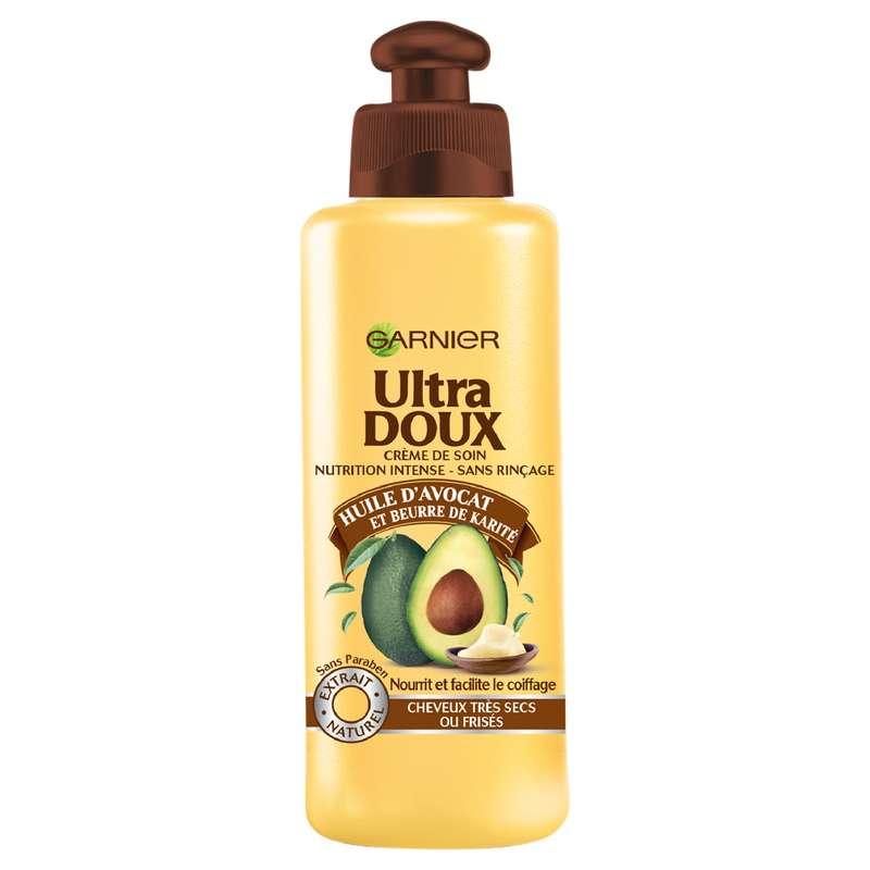Soin capillaire sans rinçage à l'avocat et au karité cheveux secs ou frisés, Ultra Doux (200 ml)